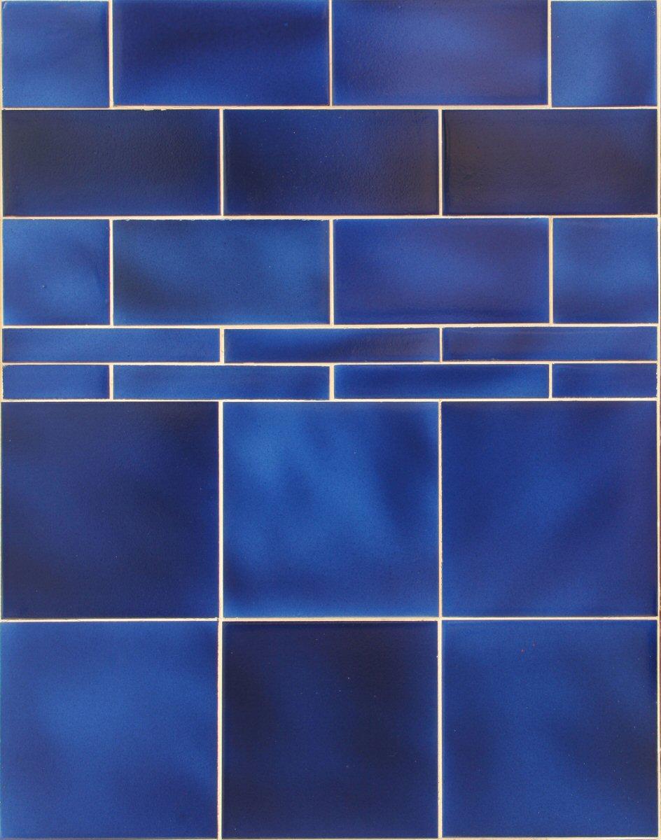Victorian Dark Blue Tiles