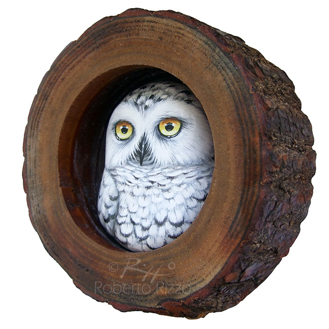 Snowy Owl Nest  A Fantastic Lucky Charm to Decorate your