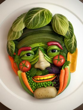 Fotosíntesis Humana o lo que es lo mismo hombres verdura.