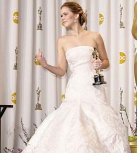 Jennifer Lawrence finger