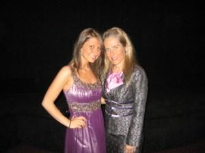 Kayla Laws con la madre