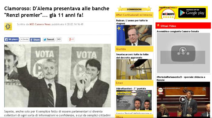 D'Alema Renzi undici anni prima
