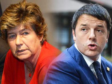 Susanna Camusso e Matteo Renzi