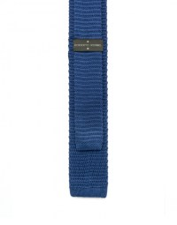 Blue knit tie - Ties and Scarves - Accessories | Roberto ...