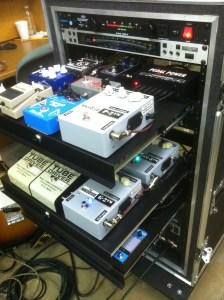 This Is A Rack System Using Pedal Loops To Control Effects Essentially It Vertical Board With Small Amount Of Digital Processing At