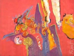 schilderij, robert, pennekamp, 108, olieverf, doek, canvas, stedelijk museum, 1999, abstract, figuratief, vrouw, lijn, figuur, beest,