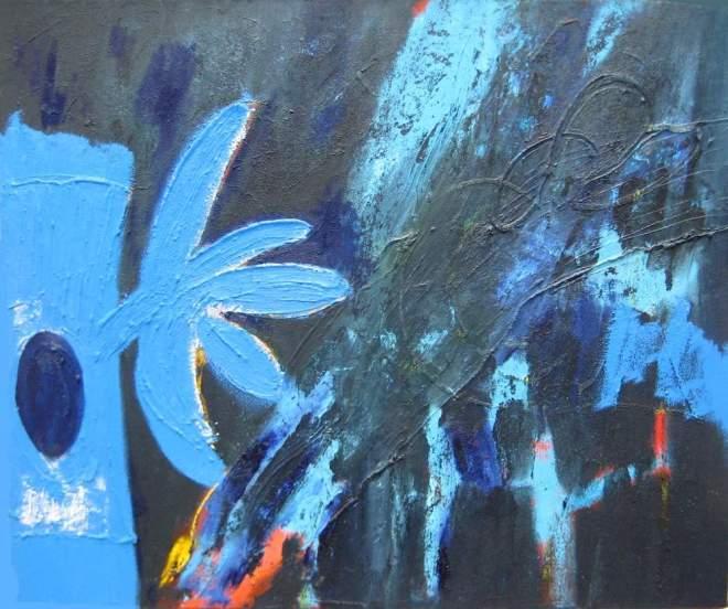 schilderij, help, blauw, zee, figuratief, abstract, expressief, beeld, visueel, galerie, robert, pennekamp, symbool, best, figuur, wammes, overgeschilderd, beter, goed,