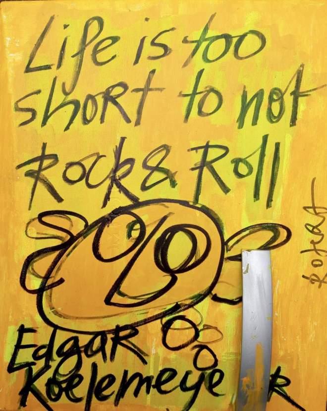 Edgar, Koelemeijer, zanger, wild romance, herman brood, gitarist, undercoversessie, professor, nomad's, rock, roll, rockandroll, muzikant, koelkastdeur, harde, uitspraak, bn, bn-er, koelkast, deur