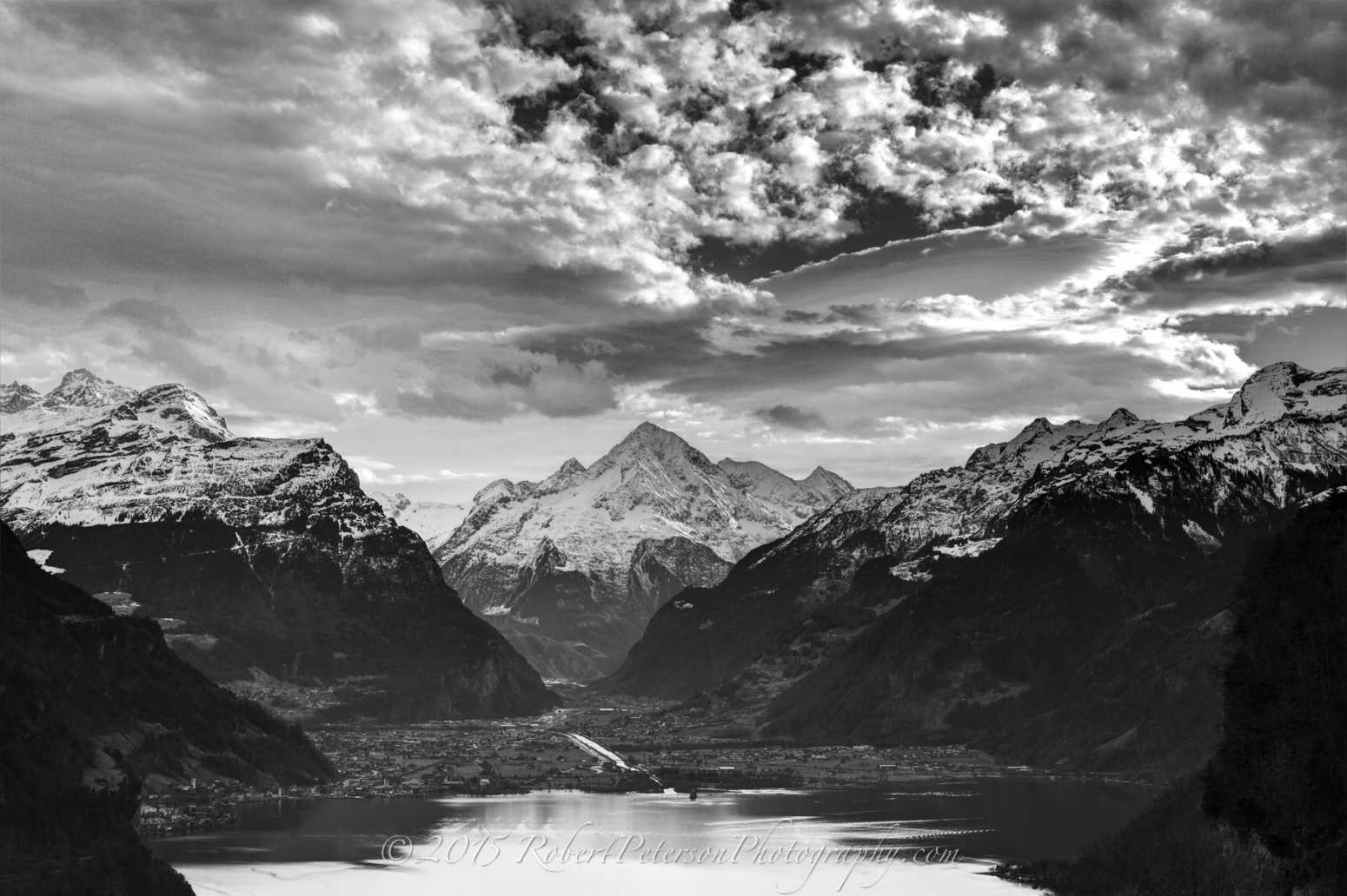 HDR Photography Altdorf switzerland Seelisberg BW black white Robert Peterson Photography