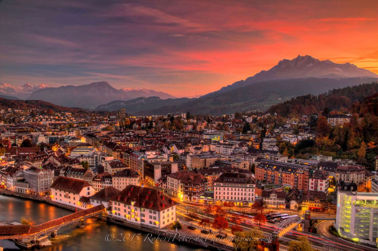Luzern Lucerne Switzerland Tower hdr photography robert peterson photography