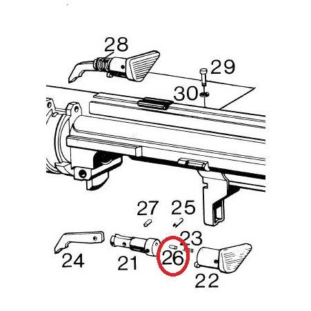 HK21E 23E MSG90 PSG1 Forward Assist Cylindrical Pin for