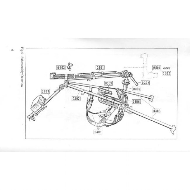 MG3 LAFETTE TRIPOD MANUAL, German manual in English, MGG