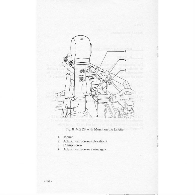 MG3 Lafette Optics Manual, German Military Manual in