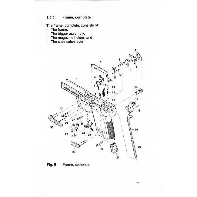 German Army HK P8 Operators Manual in English, HK USP 9mm