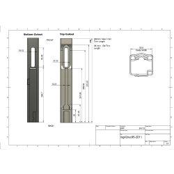 MG42 Rear Sheet Metal Kit, 80% Rear Receiver Stampings for