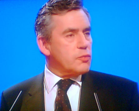 Gordon Brown at the Labour Conference