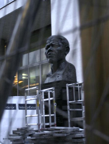 Mandela Bust by the Royal Festival Hall
