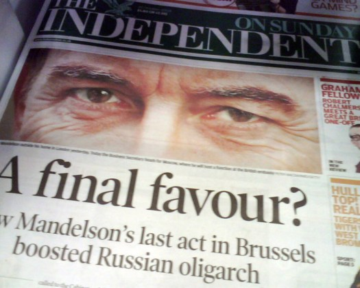 Independent on Sunday 26th October 2008