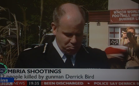 Chief Constable Craig Mackey gives a press conference on the Cubrian shooting spree.