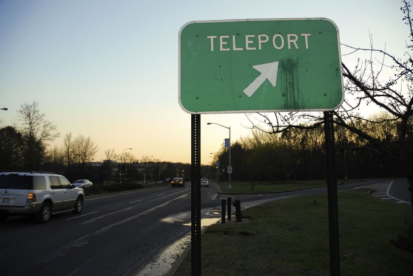 Teleport road sign. Photo by mercurialn on Flickr. Creative Commons Licence.