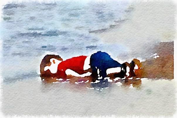 Aylan Kurdi on the beach