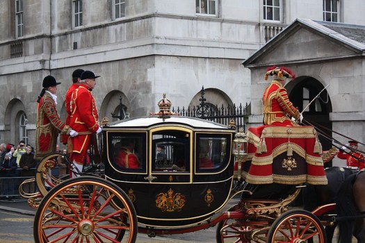 HM The Queen on her way from the State Opening of Parliament, 2008 (photo by Robert Sharp)