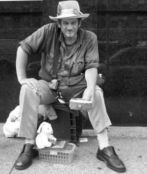 Robert Sharp, panhandler, Vancouver
