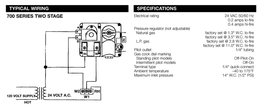 medium resolution of 700 series 2 stage wiring and specifications