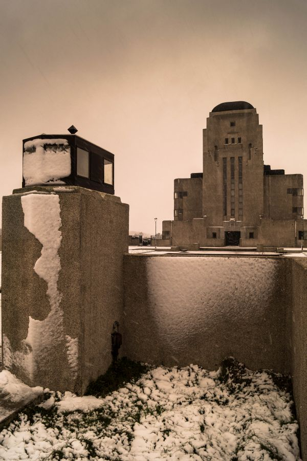 Radio Kootwijk in de sneeuw