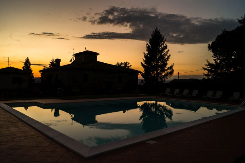 San Donato in Fronzano, Podere i Sorbi sunset , swimmingpool