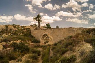 Auaduct omgeving El Salado, Murcia, Spanje