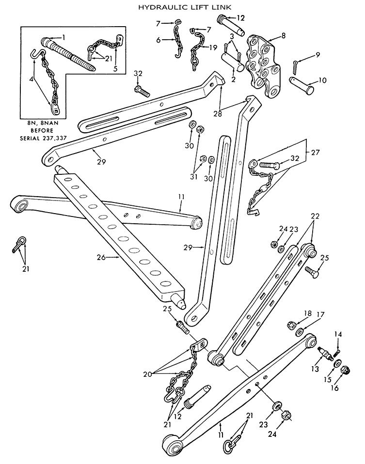 Ford 9N 8N 2N Hydraulic Lift Links & related