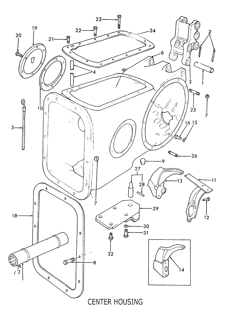 Ford 9N 8N 2N Center Housing & related