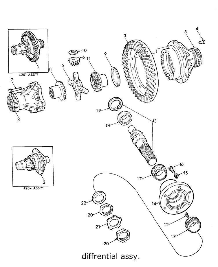 Ford 9N 2N 8N Differential Assy, Drive Gear & Pinion