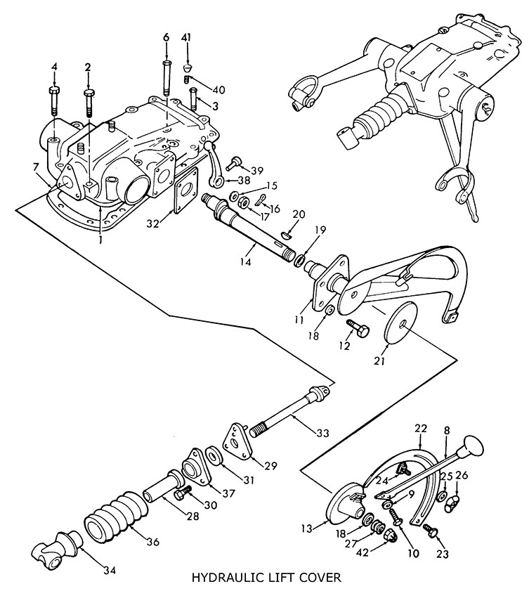 Ford 5000 Tractor Hydraulic System Diagram