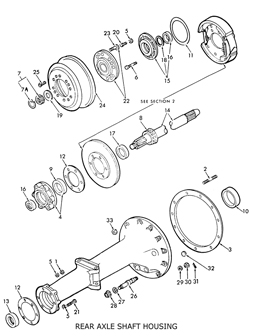Ford 8N Rear Axle Shaft Housing & related