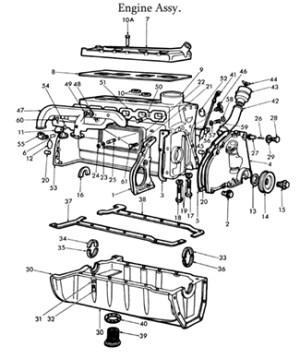 Ford 8N Engine Parts List