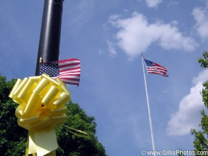 America - Flag and Yellow Ribbon