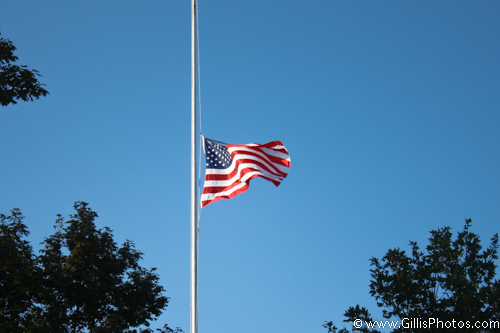 US Flag at half staff - GillisPhotos.com
