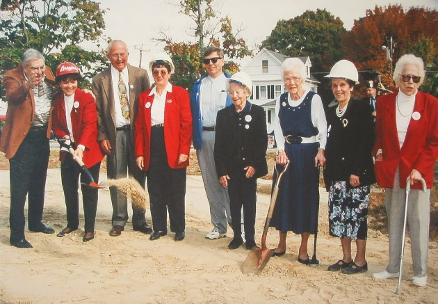 This picture remains at the Foxboro Senior Center to this day - breaking ground on the new center, circa 1997-1998, with Gerry Rodman, Lorraine Garland, Mary Cicciu, Joanne Pratt, and other friends.