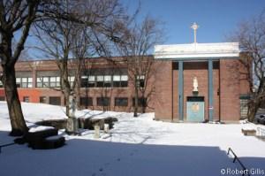 "Saint Kevin School Grades 5-8 and ""Center"" building"