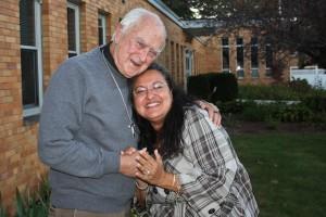 Father Richard Deliisle, MS and Susan Gillis
