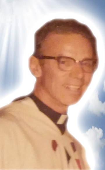 I did a Photoshop edit on the photo of Father Kierce from Peg Harold Ashwell -- Rest in Peace Father Kierce.