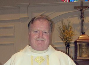 Rev. Stephen J. Madden, pastor of St. Mary's Church in Foxboro.   (Photo by Christine Igo Freeman, Foxboro Reporter)