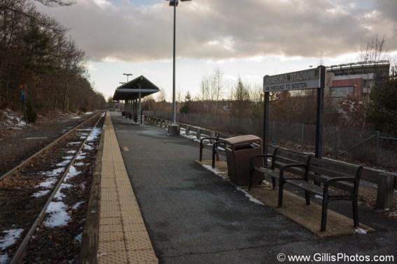 Foxboro Commuter Rail Station, January 2014. Photo by Robert Gillis
