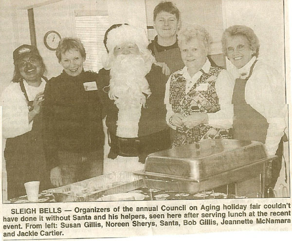 Helping out at the Foxboro Senior Christmas Fair; Foxboro Reporter Image