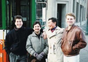 David, Arne, George Takei and me, 1990