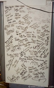 Before Saint Margaret's Hospital closed in 1993, many employees, past and present, wrote their names (and dates of service) on a board in ICN, which I believe is still on display at Saint Elizabeth Hospital to this day.
