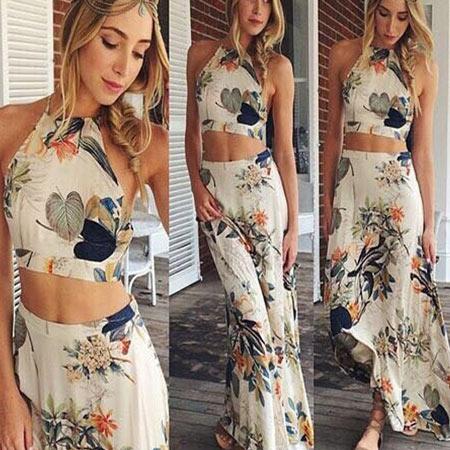2015-femmes-robe-casual-vintage-robe-deux-pièces-Floral-imprimé-maxi-robe-robes-d-été-plage