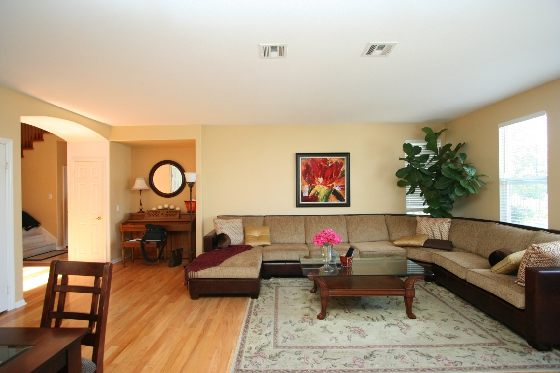 Glamorous Modern Family Room Before And After Robeson